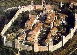 Monteriggioni Castle in Northern Italy
