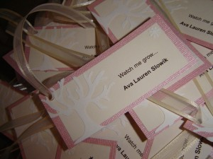themed baby shower tags