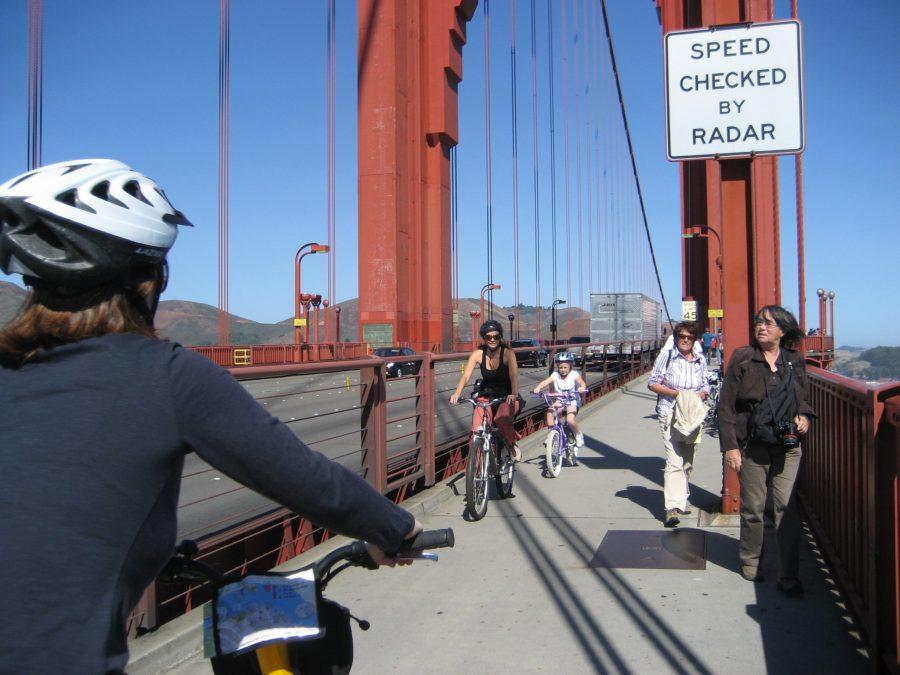Bike Across The Golden Gate Bridge In San Francisco
