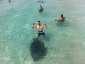 Swimming with Stingrays in Grand Caymen