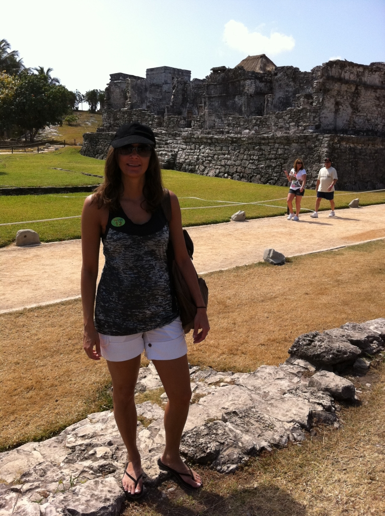 Annette White at the Tulum Mayan Ruins in Mexico