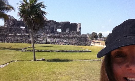 Annette White at Tulum Mayan Ruins in Mexico