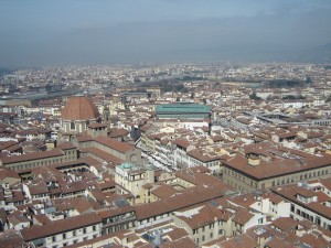view from top of Florence Duomo