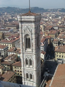 view from the top of the Florence Duomo