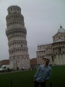 Peter at the Leaning Tower of Pisa
