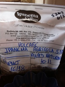 Volcafe imported coffee beans