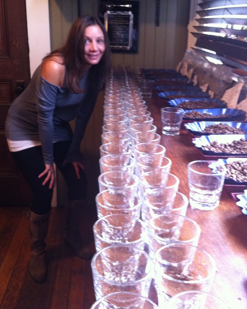 Annette White at a Coffee Cupping