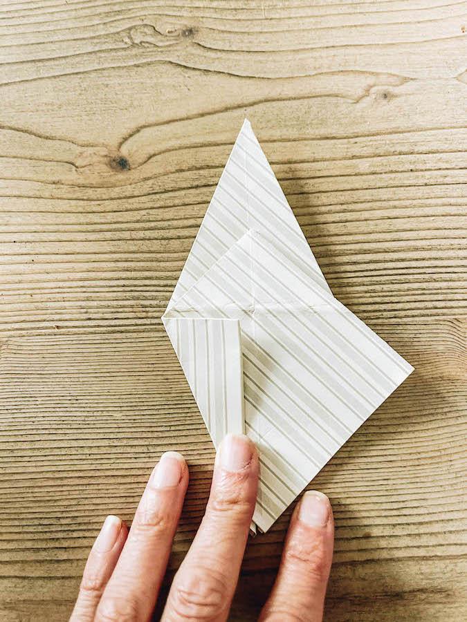Making an origami animal