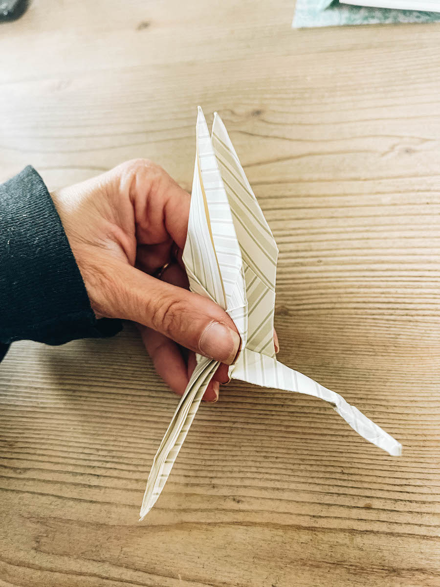 Making the crane head and tail