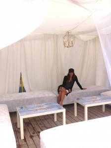Annette White in the VIP Cabana