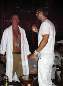 Men at the Kandy Kruise White Party