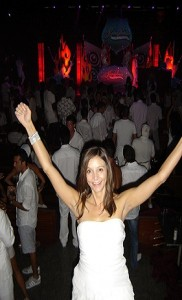 Annette White at the Kandy Kruise White Party
