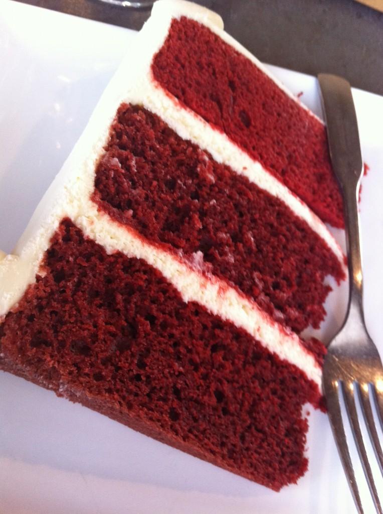 red velvet cake at Liberty Market