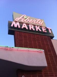 Liberty Market Sign