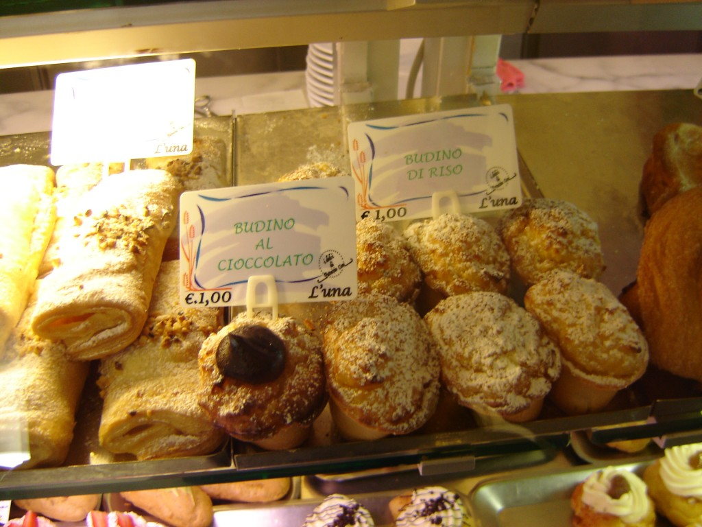 italian pastries in Italy
