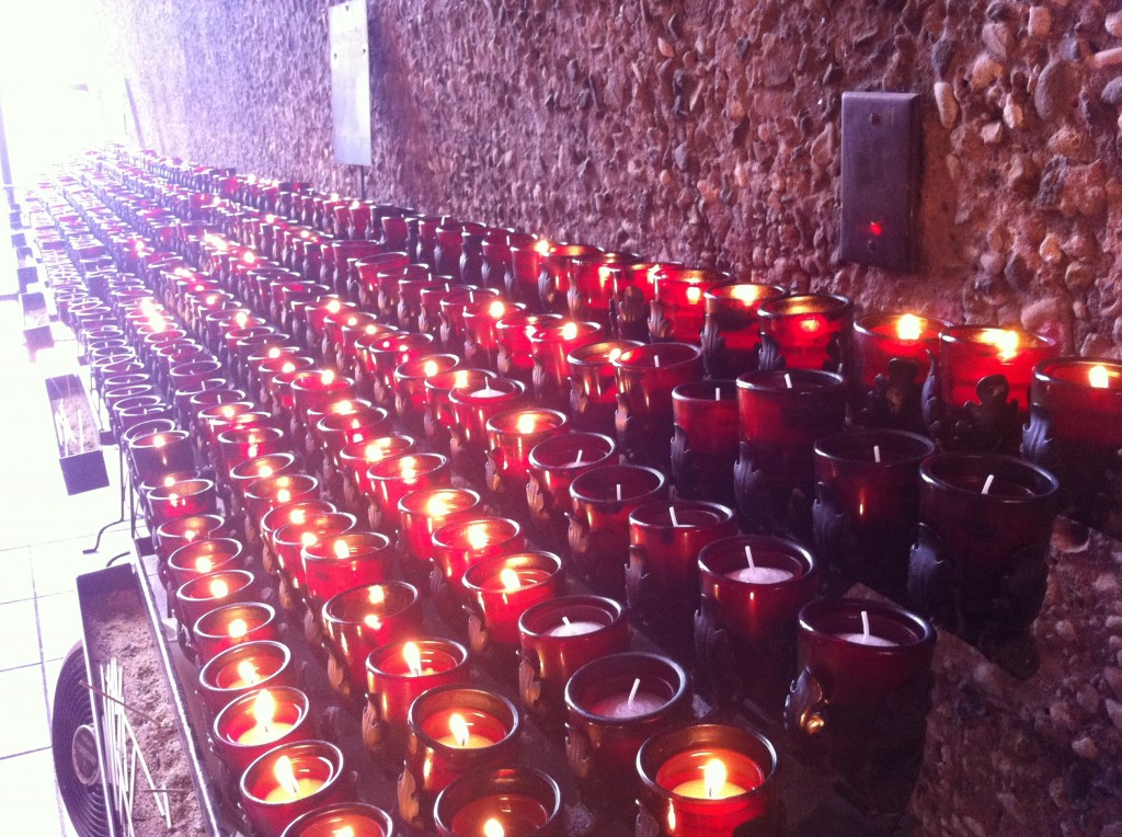 candle lighting at Sedona Chapel of the Holy Cross