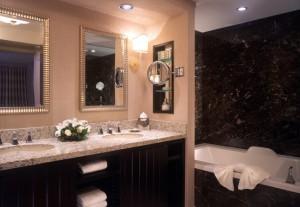 bathroom at thehotel mandalay