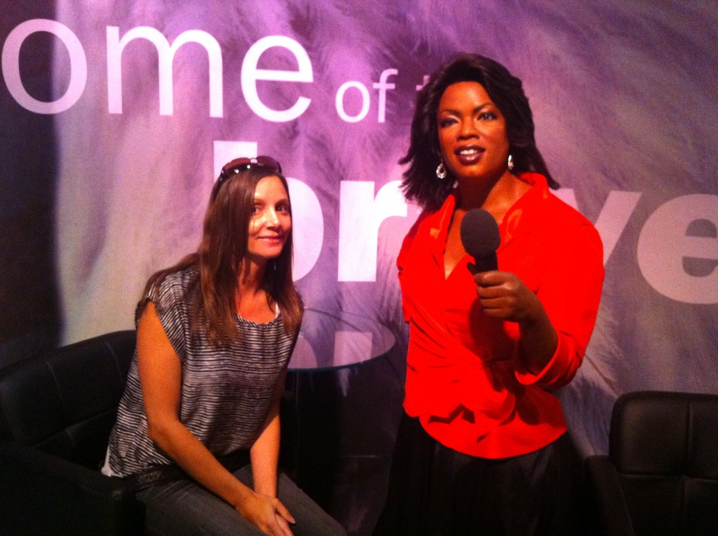 Annette White with Oprah at Madame Tussauds