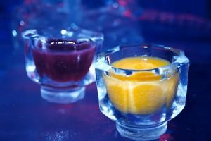 ice glass at ice bar