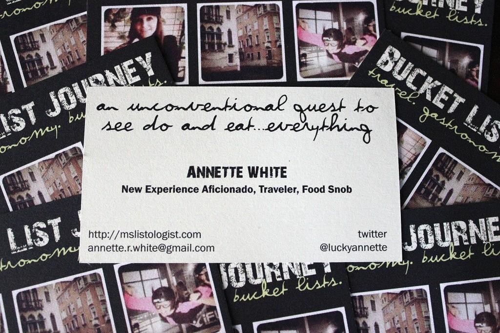 Bucket List Journey Blog Business cards