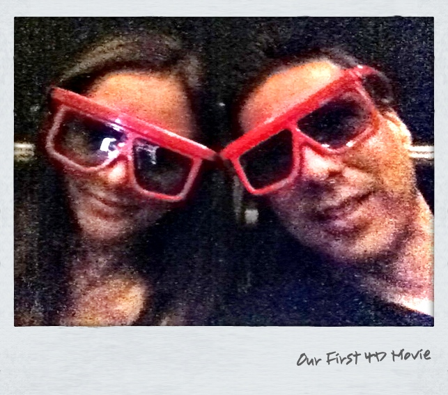 Annette White at a 4-D Movie