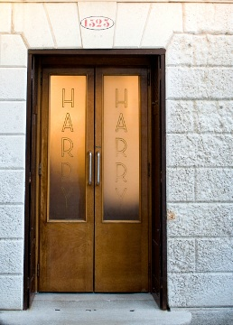 Doors at Harrys Bar in Venice