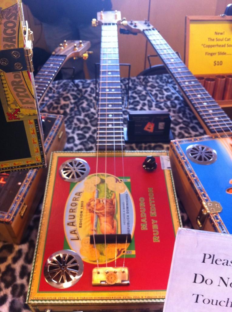 Cigar Box Guitar at Pike Place Fish Market