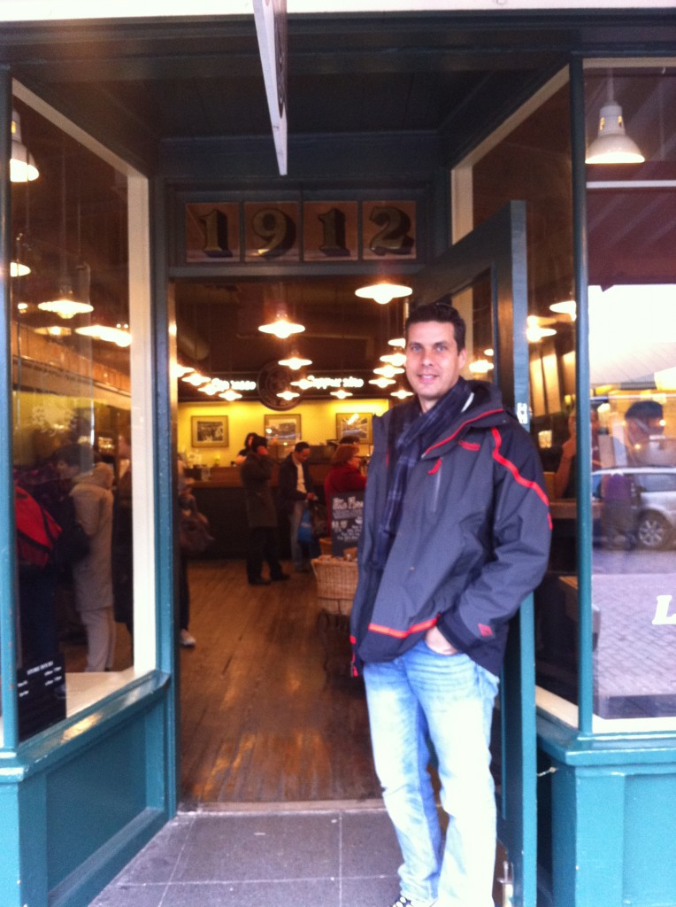 Peter at Original Starbucks