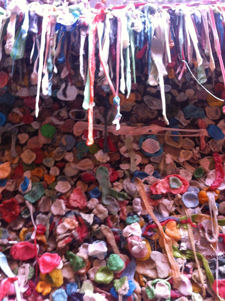 Close up of seattle gum wall