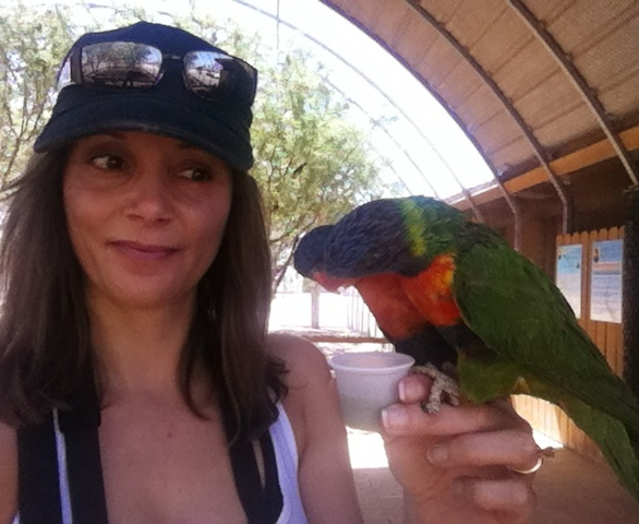 Annette White with Lorikeet