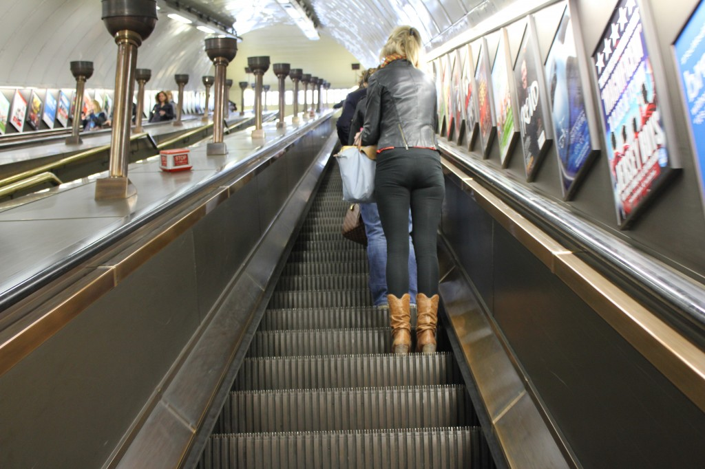 Escalator to the London Underground