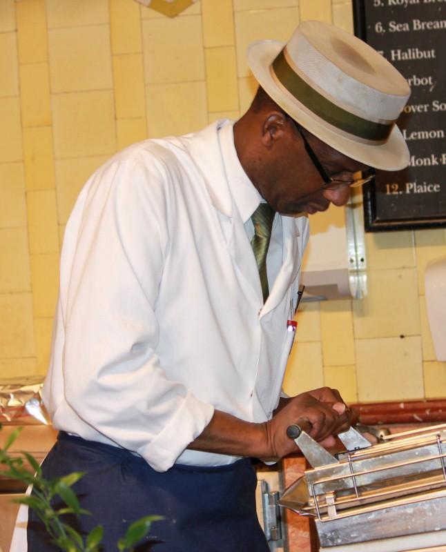 Staff at Harrods Food Hall