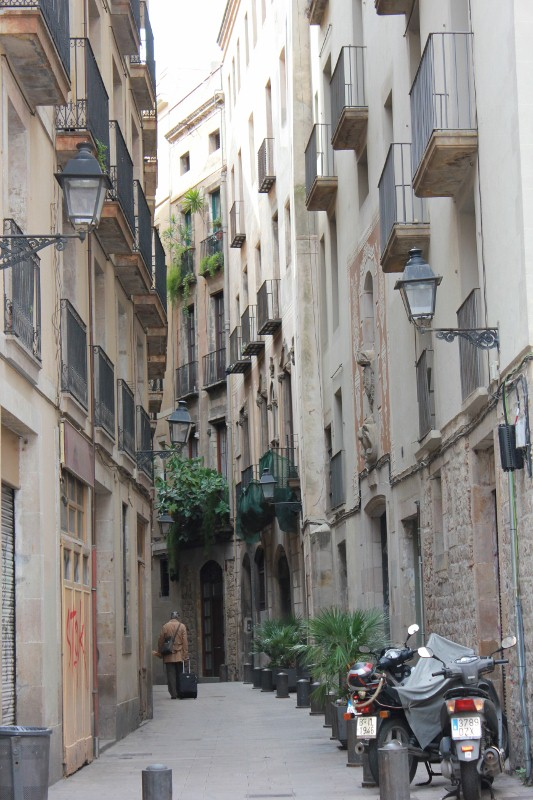 Narrow Streets of Barcelona