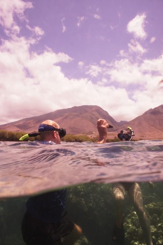 Snorkling in Olowalu