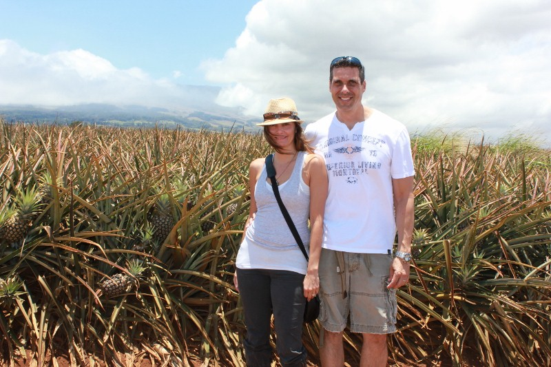 Peter & Annette White at the Pineapple Farm in Maui