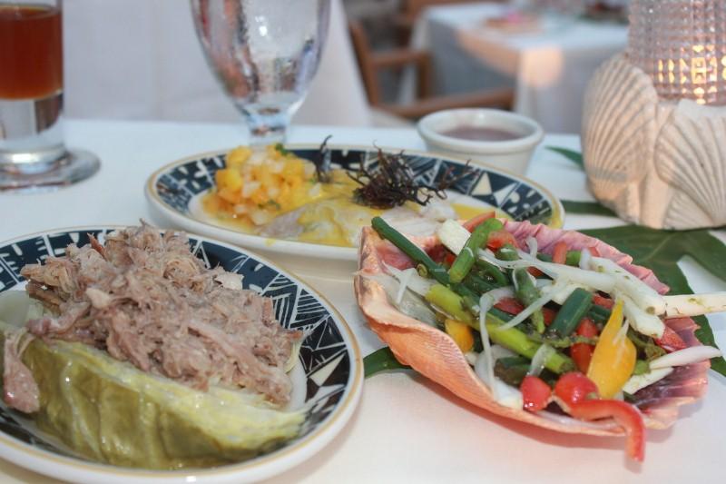 Food at Feast of Lele Luau