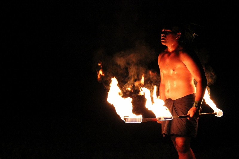 Fire Throwers at the Luau