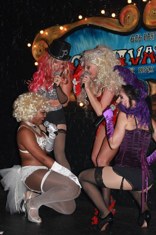 Burlesque show at speakeasy