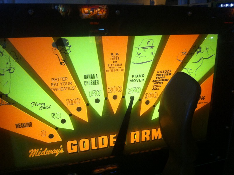 Golden Arm Arcade Game