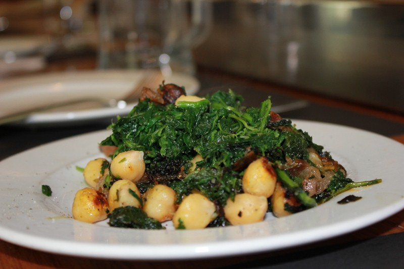 Chickpea and Spinach Tapa