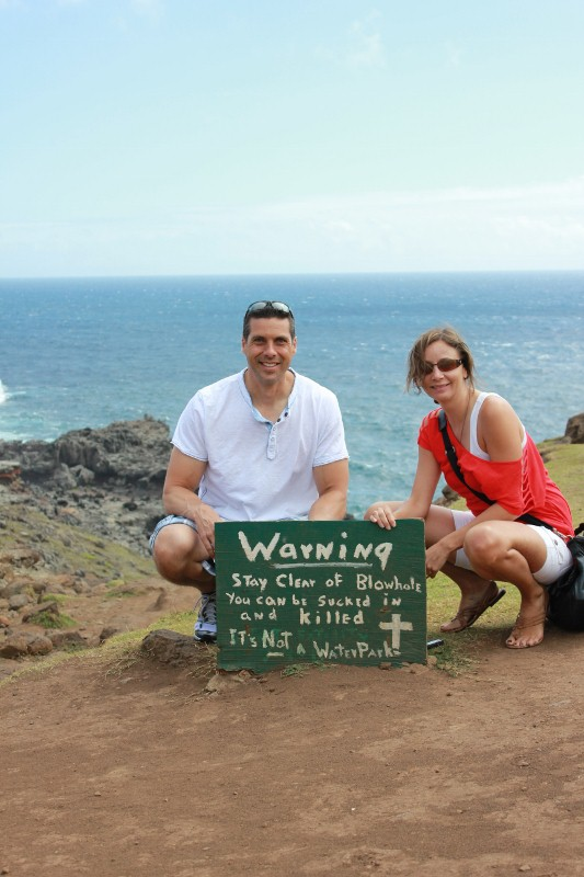 Warning at Nakalele Blowhole | Annette White