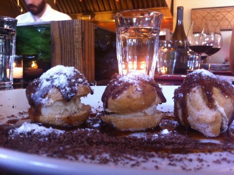 Foie Gras Profiteroles at Le Pigeon