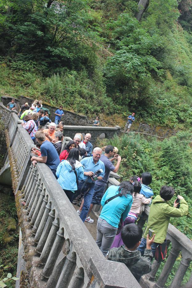 Multnomah Waterfall Tourists