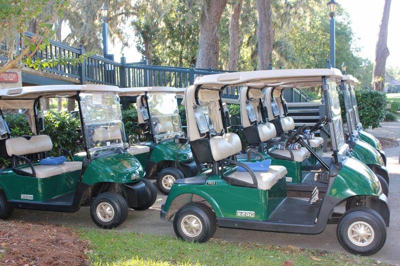 Golf Carts at King & Prince