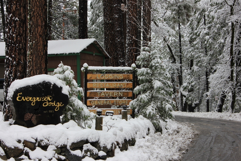 A very white christmas in yosemite valley for Cabins in yosemite valley