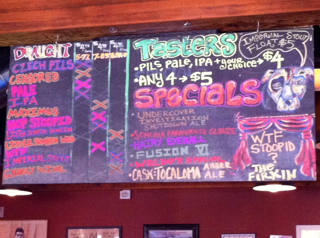 Lagunitas Beer Menu