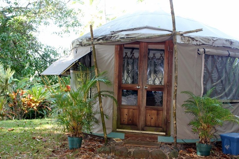 Best Things to do in Maui: Sleep in a Yurt at Luana Spa Retreat