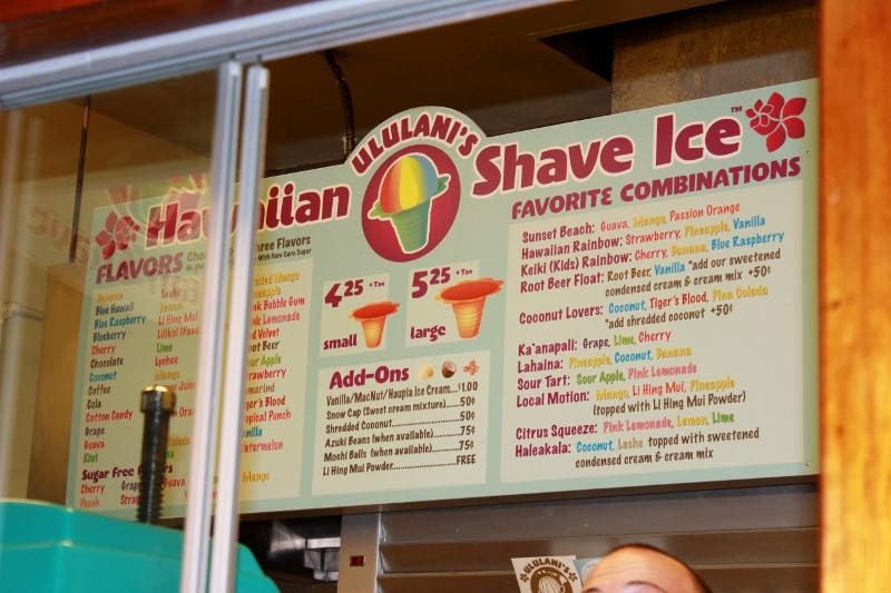 Ululani's Hawaiian Shaved Ice Menu