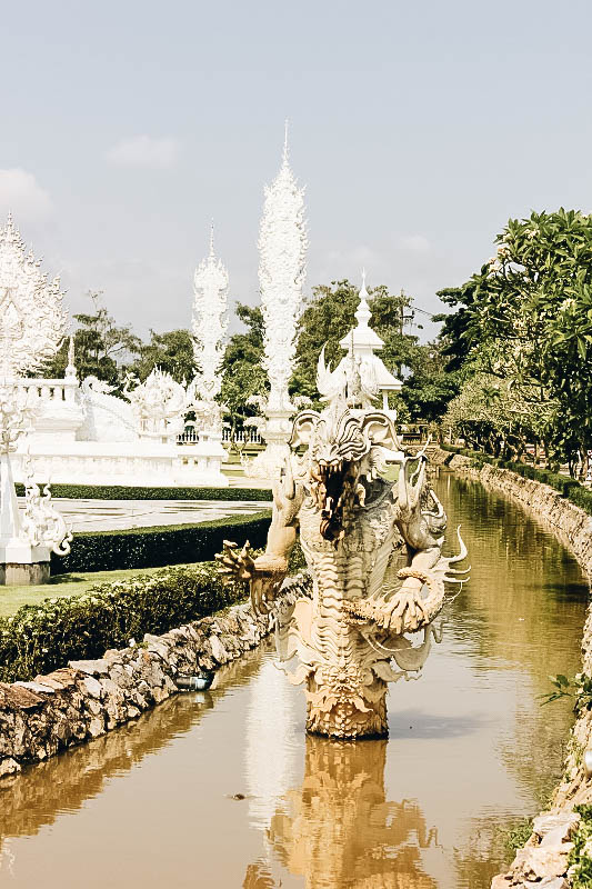 Exterior of White Temple in Chiang Rai