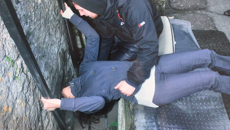 Annette White Kissing the Blarney Stone